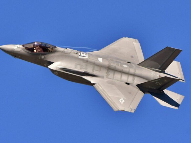 "A U.S. Air Force F-35 Joint Strike Fighter (""Lightning II"") jet"