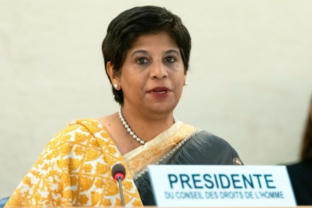 """UNHRC President Nazhat Shameem Khan, the Ambassador of Fiji in Geneva, cut off UN Watch's Hillel Neuer on Friday and ruled his statement """"out of order."""""""